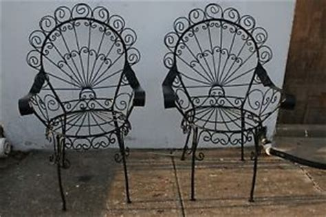 vintage wrought iron chair on popscreen