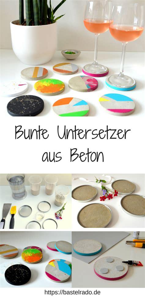 Acryllack Wohnen Sie Bunt by Untersetzer Aus Beton So Wird S Bunt Auf Dem Tisch