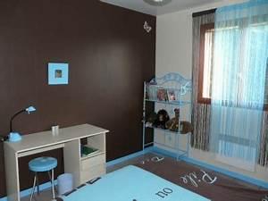 chambre turquoise et marron solutions pour la decoration With chambre marron et turquoise