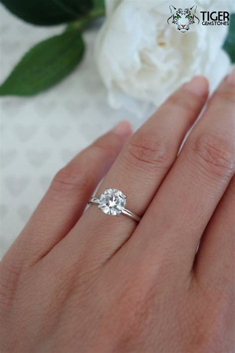 size 5 6 1 5 carat 14k white gold 4 prong solitaire