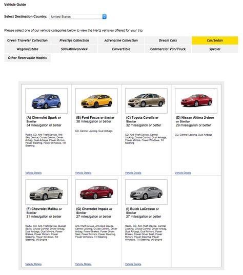 Hertz Car Rental Invoice