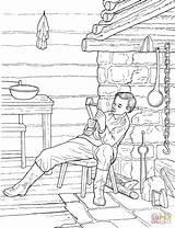 Abe Coloringhome sketch template