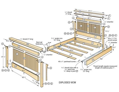 wood bed plans bed plans diy blueprints