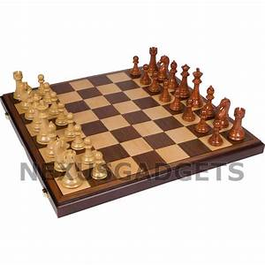 Chess Board Game Set Weighted Pieces 21 Inch Folding X
