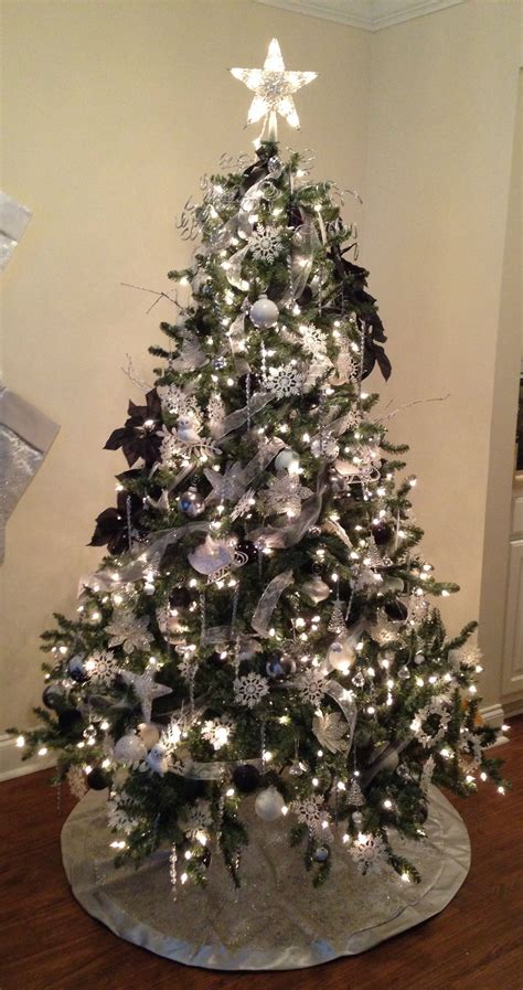 white silver  black christmas tree blue spruce