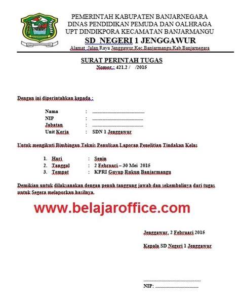 contoh surat tugas dinas dan surat tugas guru