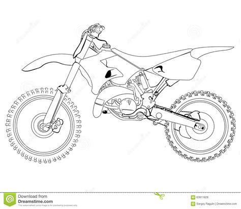 how to draw a motocross bike dirt bike sketch stock photo image of headlight