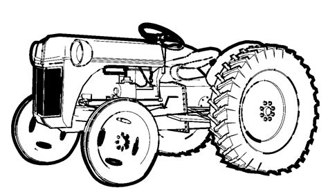 tractor template to print free printable tractor coloring pages for