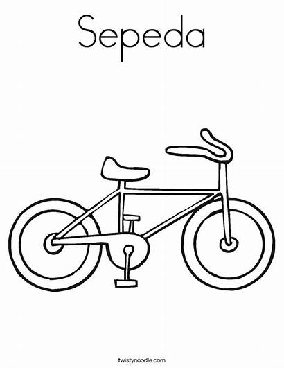 Coloring Sepeda Bike Pages Built California Usa