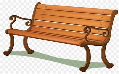 Bench Clipart Cartoon Chair Furniture Wood Transparent