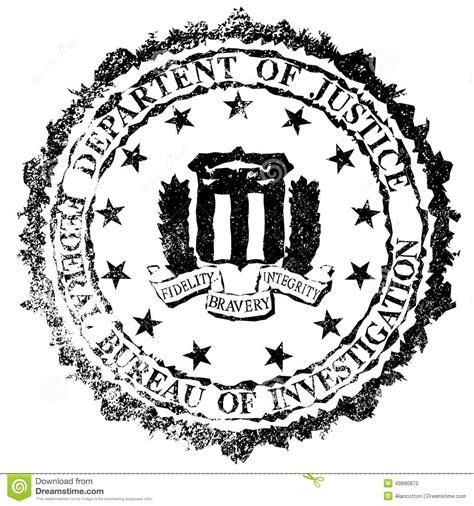 bureau fbi fbi rubber st stock illustration image of logo