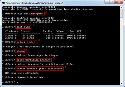 comment formater un disque dur externe comment formater un disque dur avec cmd diskpart
