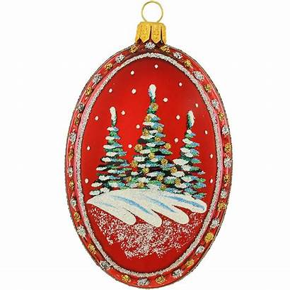 Medallion Ornament Cabin Oval Inch Glass Pinit