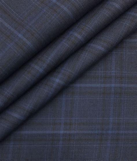 italian channel dark royal blue broad checks premium