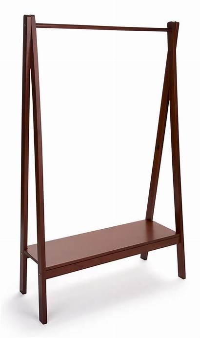 Rack Wooden Frame Shelf Clothing Base Garment
