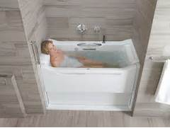 30 X 2 Person Japanese Soaking Tub by KOHLER K 1914 GLB 0 Elevance BubbleMassage Rising Wall Bath With