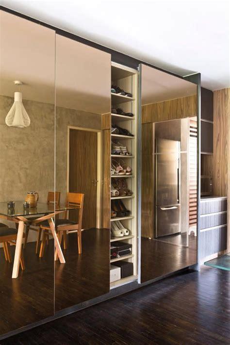 shoe cabinet adjustable shelves   mirrored