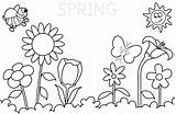 Coloring Pages Spring Springtime Printable Print sketch template