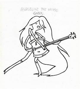 Marceline From Adventure Time - Free Coloring Pages