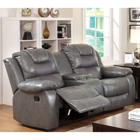 Reclining Loveseat With Center Console by Furniture Of America Claybrooks Recliner Loveseat With