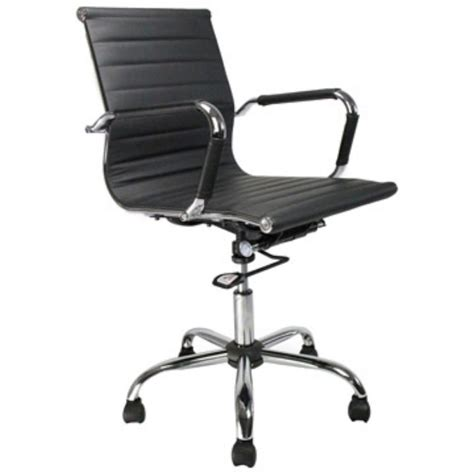Office Chairs Staples Uk by Contemporary Leather Effect Swivel Office Chair Black