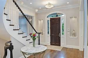Front door foyer designs entry traditional with open