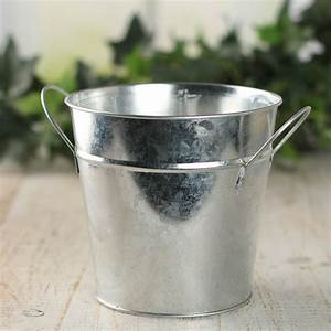 Galvanized Metal Bucket Planter - Baskets, Buckets