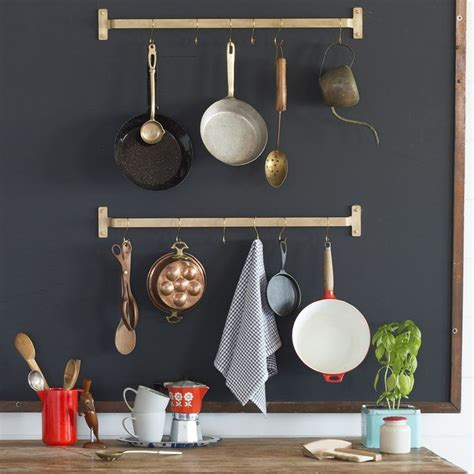 Kitchen Pot Hanging Rail by Save Space And Put Pots And Pans On Display With This