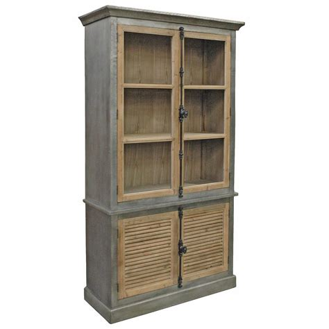 Closed Bookcases by Klein Industrial Loft Pine Zinc Wrapped Closed