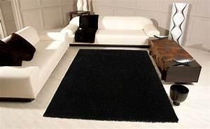 tapis salon noir et gris idees de decoration interieure With tapis gris noir