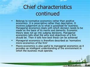 Chief Characteristics of Managerial Economics ...