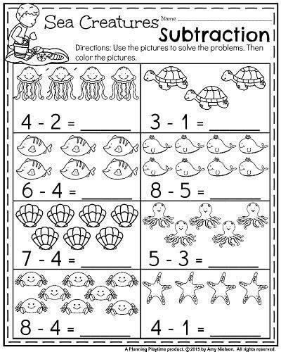 summer kindergarten math worksheets themed
