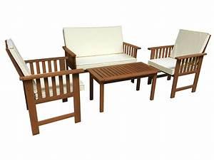 Salon de jardin en bois exotique bangkok 68300 68301 for Salon de jardin bois exotique