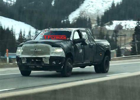 2019 Dodge Ram Prototype by 2019 Ram Hd 3500 Dually Prototype Spied Testing On The Ike