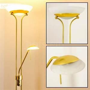 Lampe Sur Pied Led : lampadaire led laiton lampe sur pied luminaire achat vente luminaire led biot laiton les ~ Teatrodelosmanantiales.com Idées de Décoration