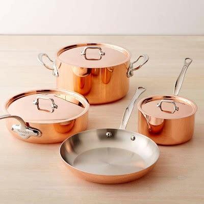 mauviel copper triply  piece cookware set williams sonoma
