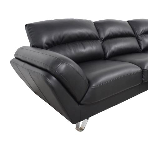 51 Off Contemporary Faux Leather Two Piece Sectional