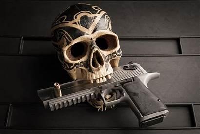 Skull Pistol 4k Wallpapers 5k Resolution Still