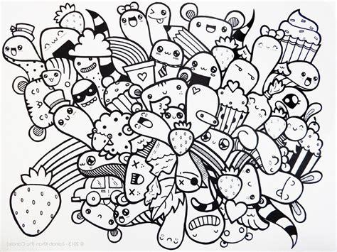 contoh gambar doodle art simple mudah  tiru grafis