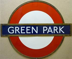 London Underground ENAMEL ROUNDEL SIGN from Green Park ...