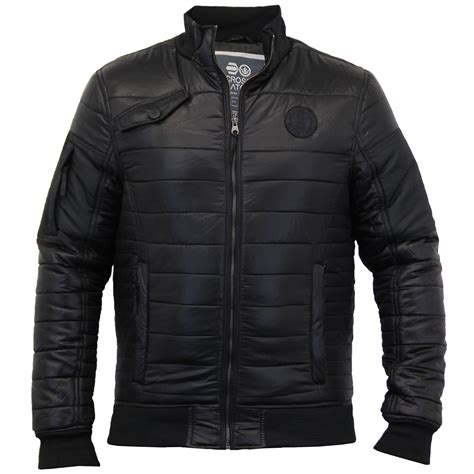 mens quilted jacket mens jacket crosshatch coat quilted padded bomber