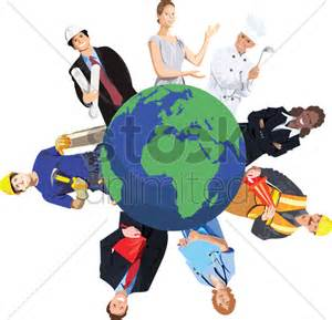 from various professions around the world vector image 1263295 stockunlimited