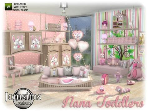 Toddlers Bedroom Sets by The Sims Resource Nana Toddlers Bedroom By Jomsims Sims