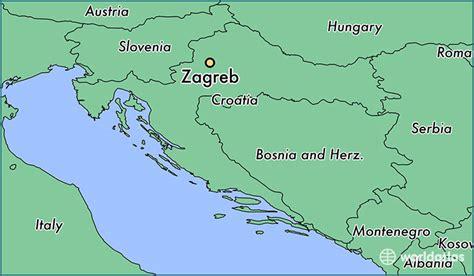 zagreb croatia zagreb grad zagreb map