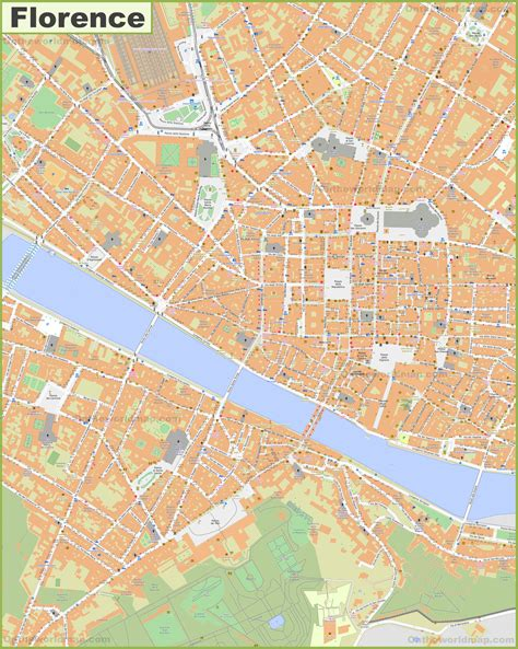 large detailed map  florence