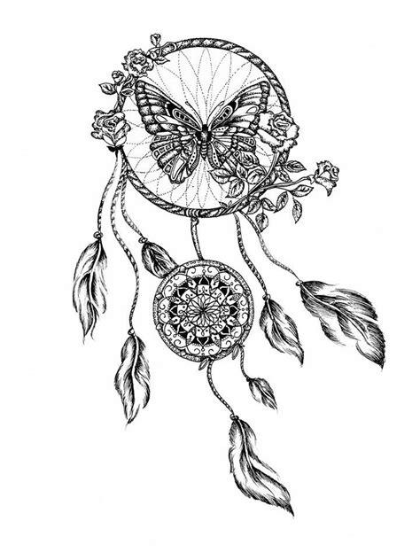 mandala attrape reves avec papillon tatoo pinterest