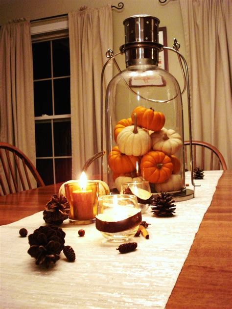 pumpkin centerpieces  fall  halloween table
