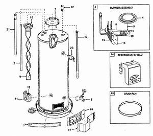 State Gs650yoct Gas Water Heater Parts