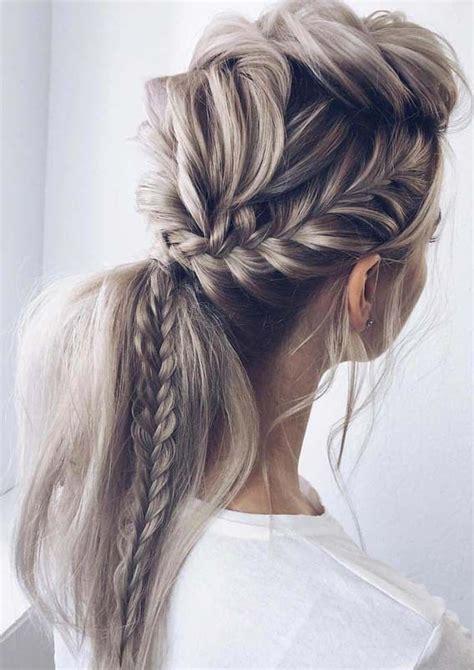 unique fishtail braid ponytail hairstyles