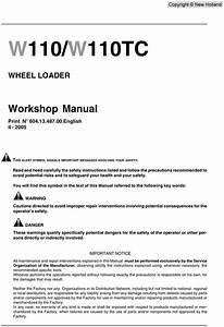 New Holland Nh W110 W110tc Workshop Service Repair Manual